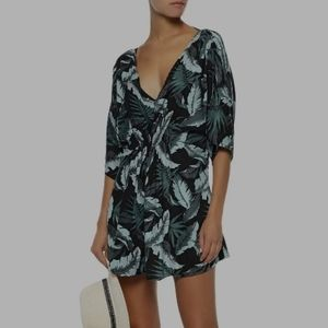 ONIA Alessandra Cover Up Vintage Palm Large XL